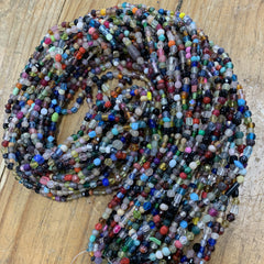 Earthy Glass Beads - Mixed Glass Beads - 12 Strands 36 inches Long