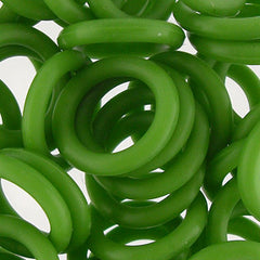 Silicone Rings -Green - 100 pcs aprox.