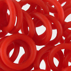 Silicone Rings - Red - 100 pcs aprox.