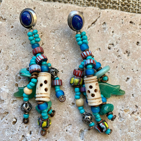 Finished Jewelry- Earrings - Turquoise Fetish