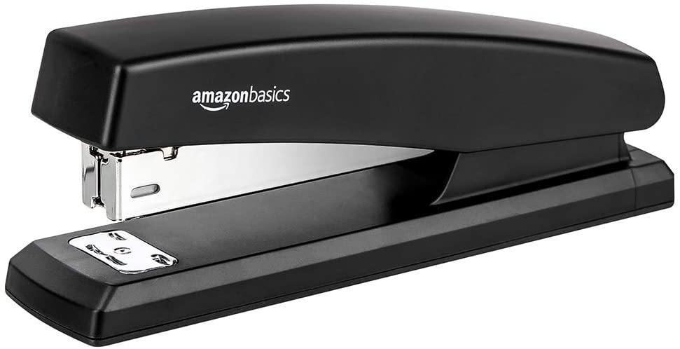 10-Sheet Capacity, Non-Slip, Office Stapler with 1000 Staples, Black - iregali