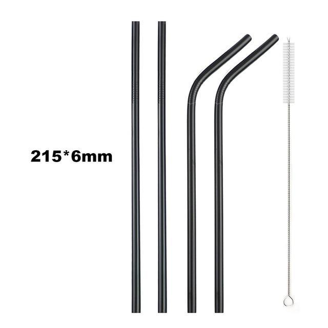 18/10 Stainless Steel Collapsible Straw Set Reusable Telescopic Drinking Straw Portable Straw For Travel Metal Drink Straw Brush IREGALI