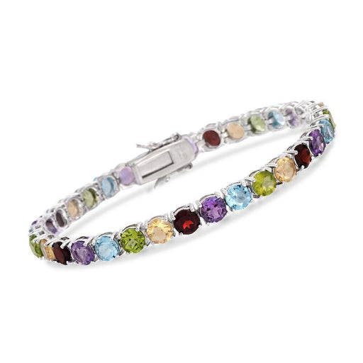 18.60 ct. t.w. Multi-Stone Tennis Bracelet in Sterling Silver - iregali