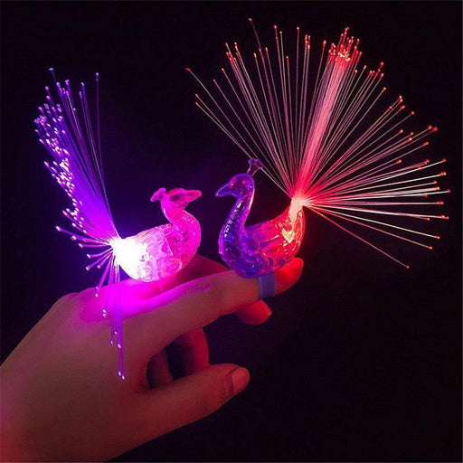 1pc Cartoon Funny Peacock Finger Lamp Toys Children Baby Kids Light up Toys Novelty Toys Light Random Color SA583 P0.2 - iregalijoy.com