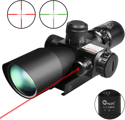 2.5-10x40e Red & Green Illuminated Scope with 20mm Mount - iregalijoy.com
