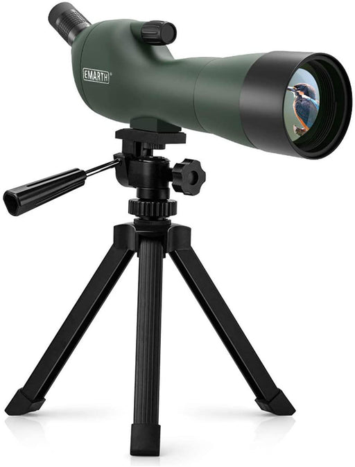 20-60x60AE Waterproof Angled Spotting Scope with Tripod, 45-Degree Angled Eyepiece - iregalijoy.com