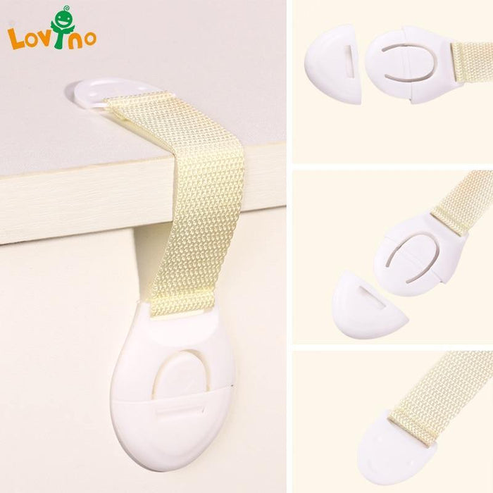 10Pcs/Lot Child Lock Protection Of Children Locking Doors For Children's Safety Kids Safety Plastic protection safety lock - iregalijoy.com