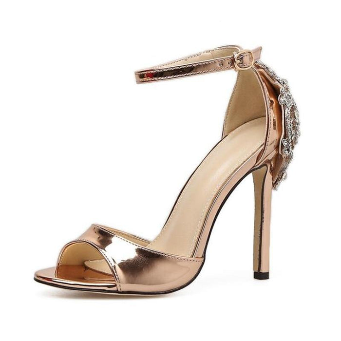 Summer Crystal Glitter woman Sandals Party Pump High Heels Sexy Elegant Rhinestone Stiletto woman shoes Sandals E757 - iregalijoy.com