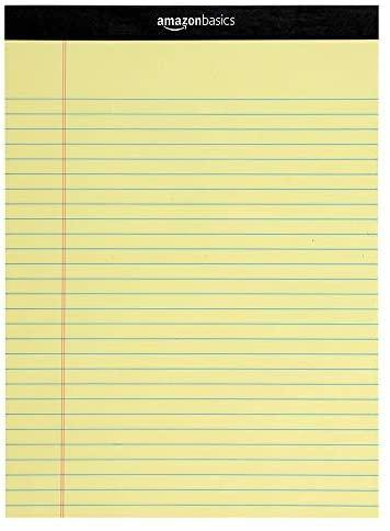 Legal/Wide Ruled 8-1/2 by 11-3/4 Legal Pad - Canary (50 Sheet Paper Pads, 12 pack) - iregalijoy.com