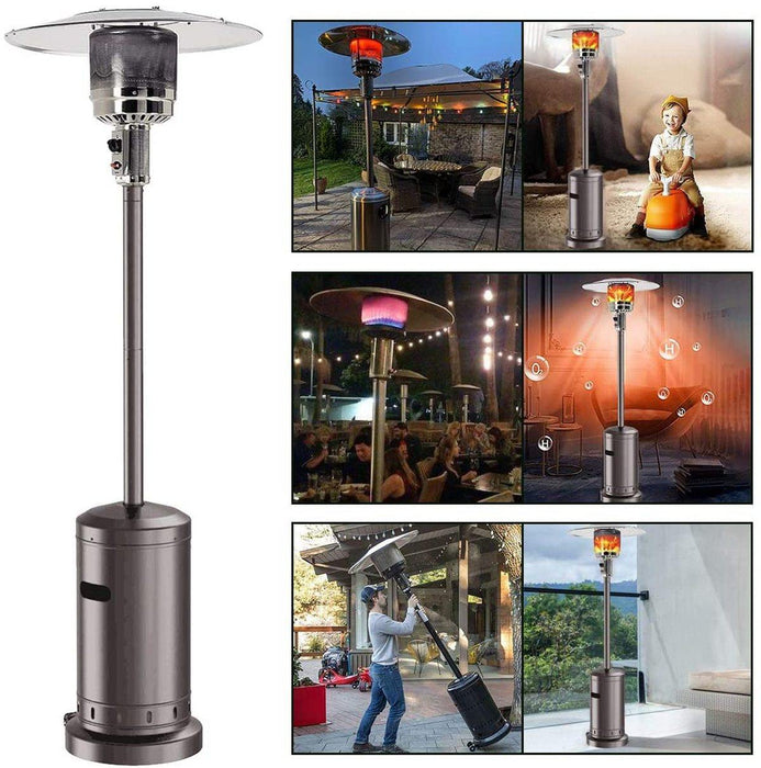 4PCS/Set 46000 BTU Outdoor Gas Patio Heaters Commercial Portable Standing Gas Heater Stove Propane for Christmas Party Garden - iregalijoy.com