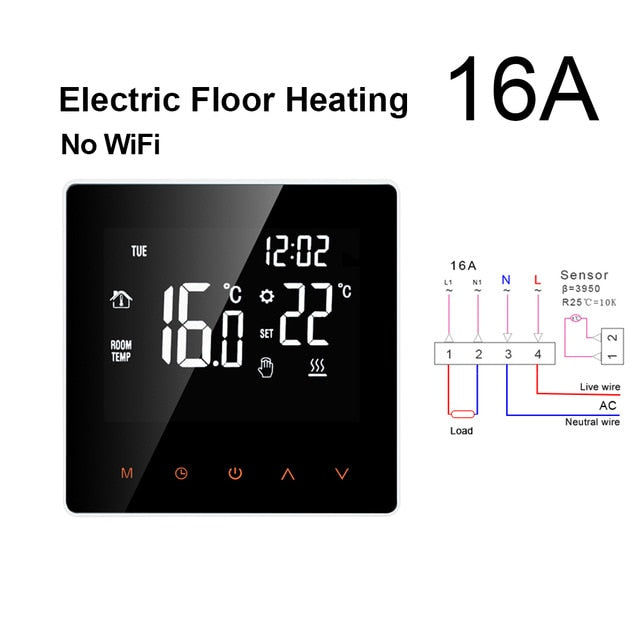 WiFi Smart Thermostat, Electric floor Heating Water/Gas Boiler Temperature Remote Controller for Google Home, Alexa - iregalijoy.com