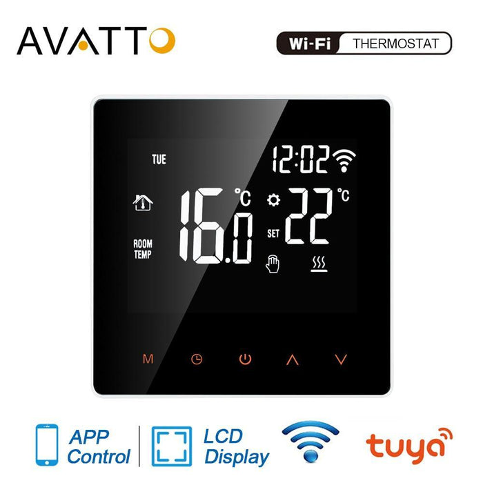 AVATTO Tuya WiFi Smart Thermostat, Electric floor Heating Water/Gas Boiler Temperature Remote Controller for Google Home, Alexa - iregali