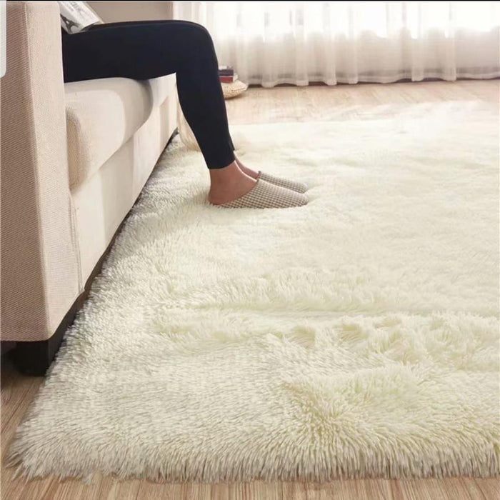 Alfombras Fluffy White Faux Fur Rug Bedroom Plush Soft Shaggy Carpet For Living Room Large Floor Mat Non-Slip 200*300 Home Decor - iregalijoy.com
