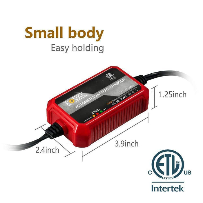 Automatic Trickle Battery Charger 12V 1000mA Smart Battery Charger - iregalijoy.com