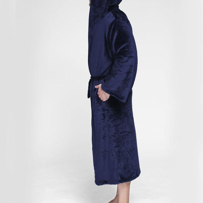 Winter Men's bathrobe 10XL 9XL 8XL 7XL 6XL Bust 150cm warm plus size Sleepwear Pajama man - iregalijoy.com