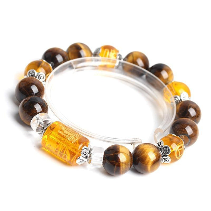 iregalijoyThe God of wealth Tiger Eyes Stone Beads Bangles & Bracelets Jewelry Lucky Energy Couple Bracelet for Women or Men - iregalijoy.com
