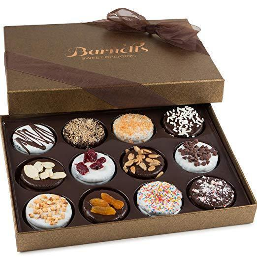 Barnett's Chocolate Cookies Gift Basket, Gourmet Christmas Holiday Corporate Food Gifts in Elegant Box - iregalijoy.com