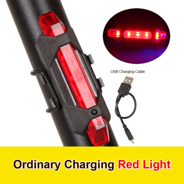 Bicycle Light Waterproof Rear Tail Light LED USB Rechargeable Mountain Bike Cycling Light Tail lamp Safety Warning Light - iregali
