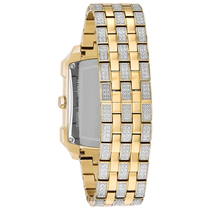 Bulova Men's Crystal Stainless Steel Quartz Watch 98C109 - iregali