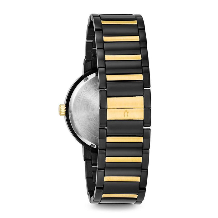 Bulova Men's Black IP Gold Accent Black Dial Modern Watch - iregali