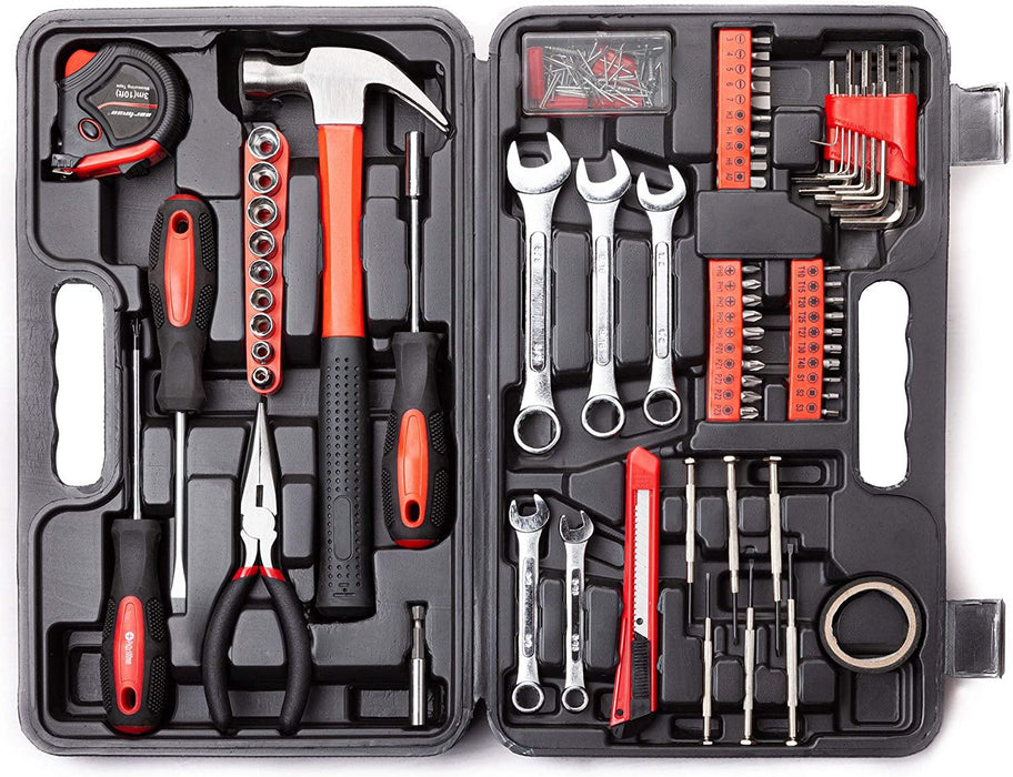 CARTMAN 148-Piece Tool Set - General Household Hand Tool Kit with Plastic Toolbox Storage Case - iregalijoy.com