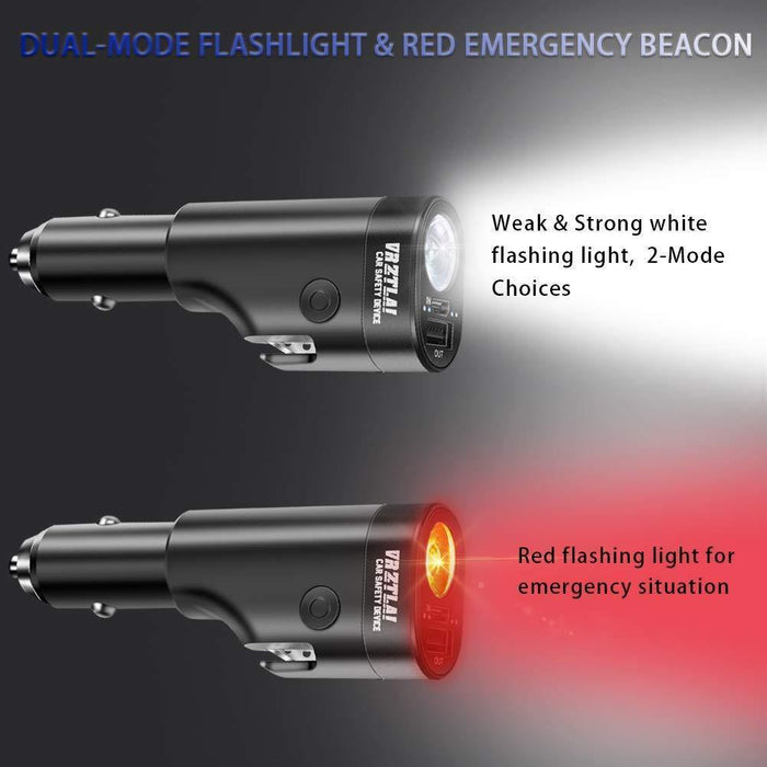 Car Safety Device 6 in 1,Car Charger Phone Charger Adapter with Emergency Escape Tool - iregalijoy.com