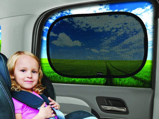 "Car Window Shade - (4 Pack) - 21""x14"" Cling Sunshade for Car Windows - Sun, Glare and UV Rays Protection for Your Child - iregalijoy.com"