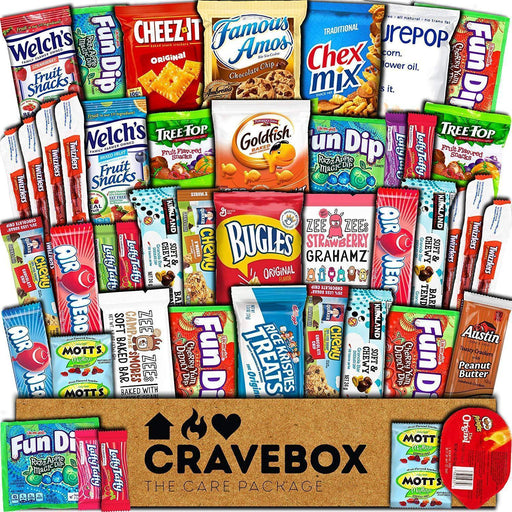 Care Package (45 Count) Snack Box - Variety Assortment Bundle of Snacks, Candy, PERFECT GIFT IREGALI