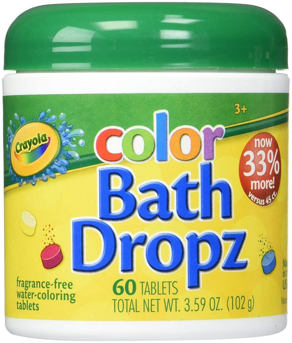 Crayola Color Bath Dropz 3.59 Ounce (60 Tablets) - iregalijoy.com