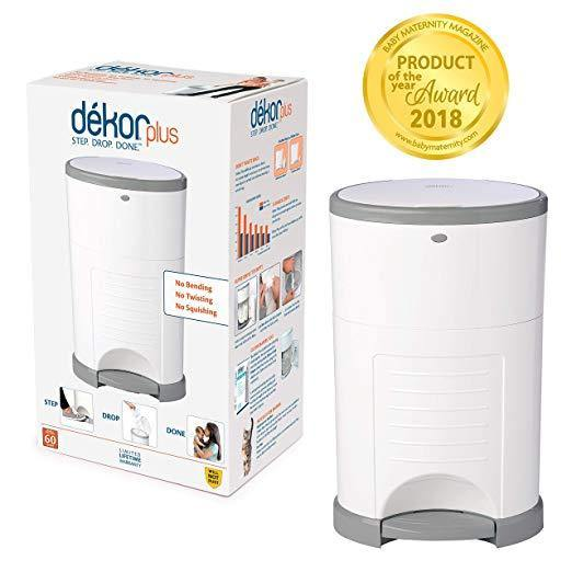 Dekor Plus Hands-Free Diaper Pail | Easiest to Use | Just Step – Drop – Done | Doesn't Absorb Odors | 20 Second Bag Change - iregalijoy.com