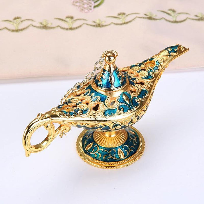 Display Lamp Ornament Decoration European Style Exquisite Crafts  Wishing Genie Lamp Tea Pot Retro Home Decoration - iregalijoy.com