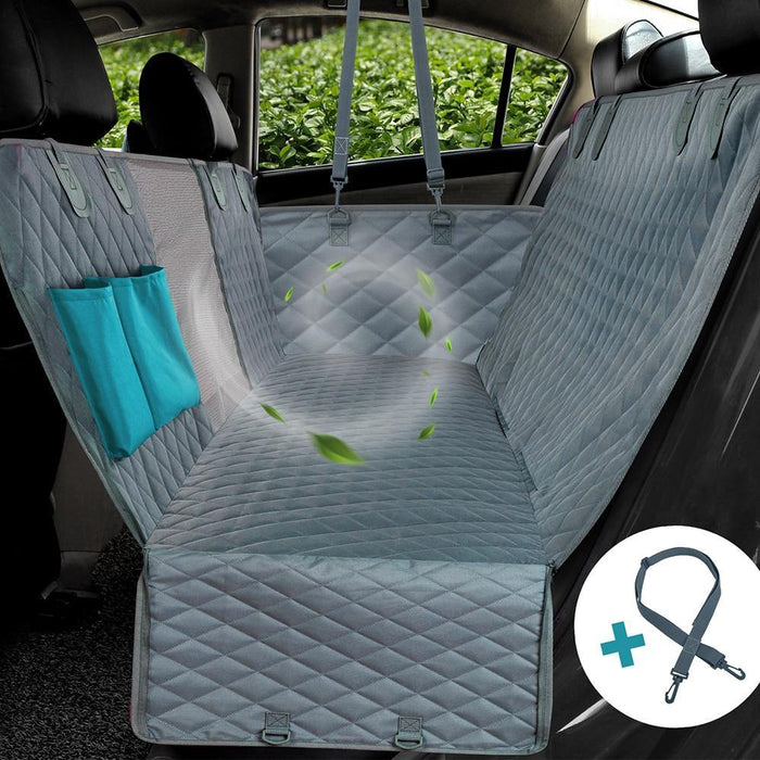 Dog Car Seat Cover 100% Waterproof Pet Dog Travel Mat Mesh Dog Carrier Car Hammock Cushion Protector With Zipper and Pocket - iregali