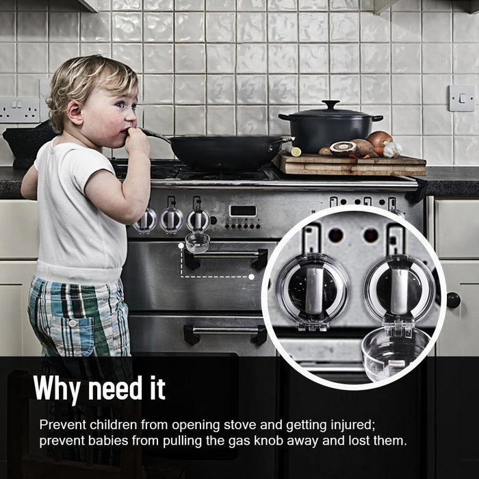 6pcs Child Protection Home Kitchen Oven Gas Cooker Button Knob Control Switch Protective Cover Protector Security Lock - iregali