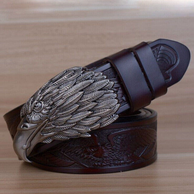 Designers Luxury Fashion Vintage Male Strap Brand Genuine Leather Belts for Men Punk Cowskin for Jeans Cintos Ceinture - iregalijoy.com
