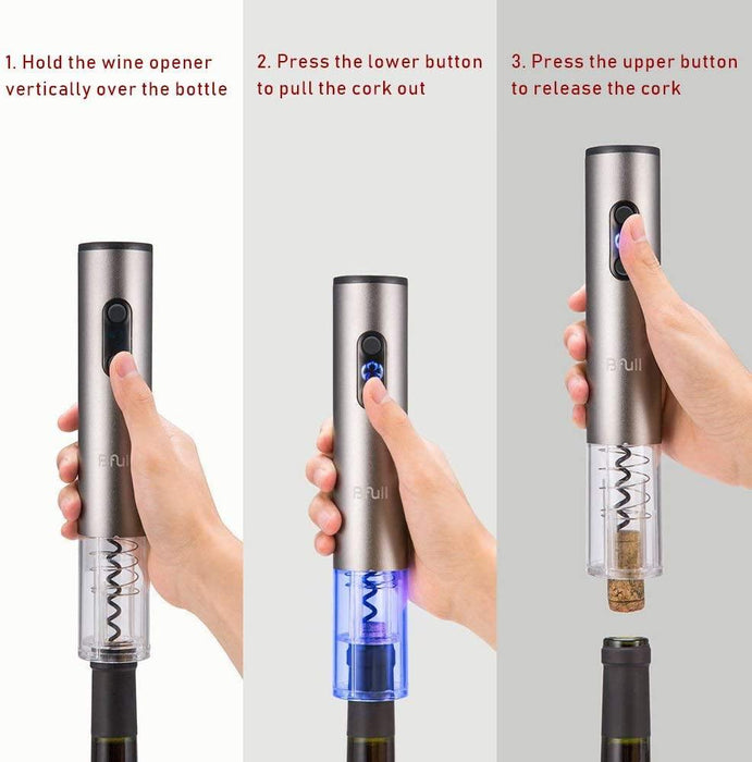 Electric Wine Opener, Cordless Bottle Opener Electric Corkscrew - iregalijoy.com