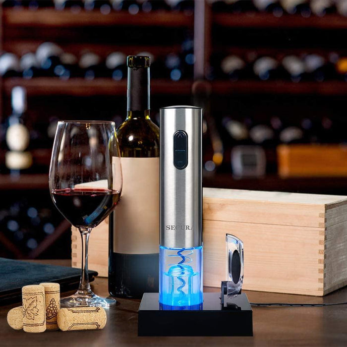 Electric Wine Opener, Automatic Electric Wine Bottle Corkscrew Opener with Foil Cutter - iregalijoy.com