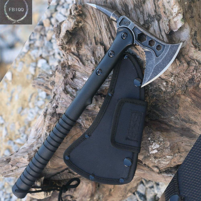 FBIQQ Tactical Axe Tomahawk Army Outdoor Hunting Camping Survival Machete Axes Hand Tools Fire Axe Hatchet Axe/Ice Axe - iregalijoy.com