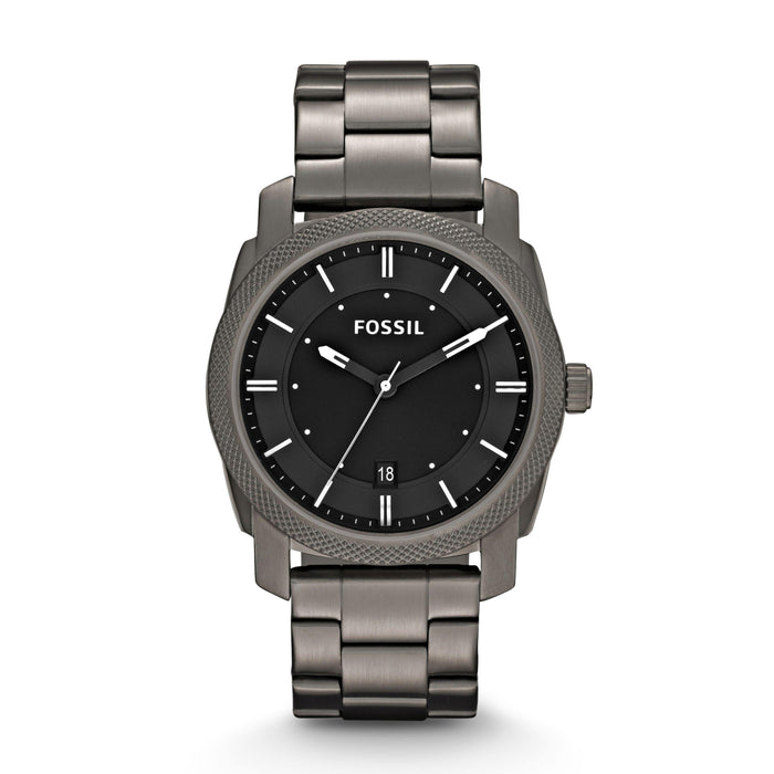 Fossil Men's Machine Smoke Stainless Steel Watch (Style: FS4774) - iregali