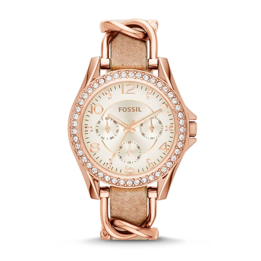 Fossil Women's Riley Leather Watch (Style: ES3466) - iregalijoy.com