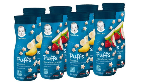 Gerber Puffs Cereal Snack, Banana & Strawberry Apple, 8 Count - iregalijoy.com