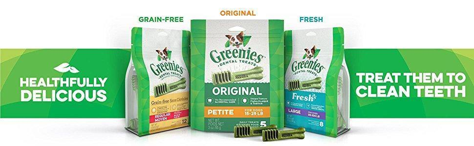 Greenies Original Regular Size Dental Dog Treats 25 to 50 pound dog - iregalijoy.com