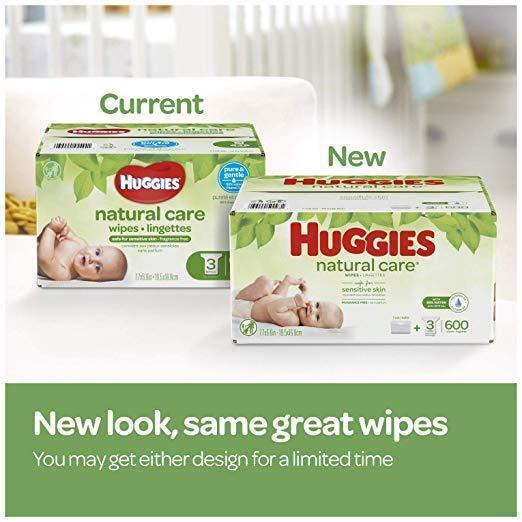 HUGGIES Natural Care Unscented Baby Wipes, Sensitive, 3 Refill Packs (528 Total Wipes) - iregalijoy.com
