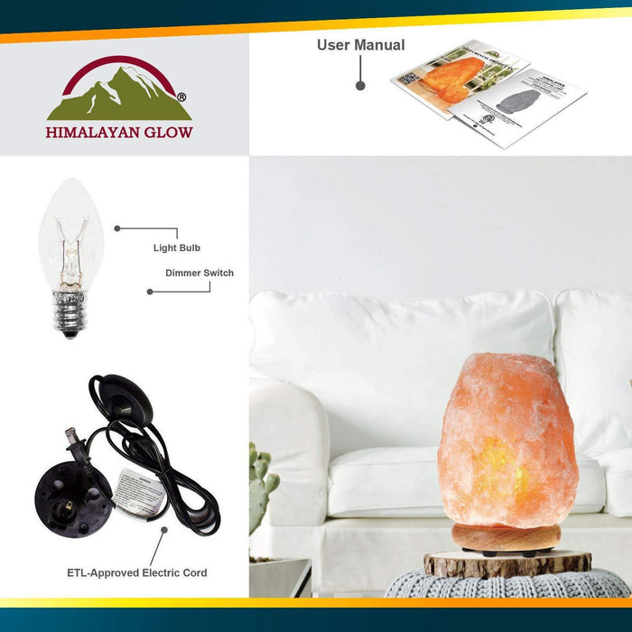 Himalayan Glow Natural Himalayan Salt Lamp, Crystal Salt Lamps, IREGALI