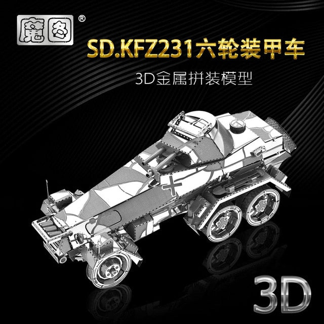 IRON STAR 3D Metal puzzle Vengeance Motorcycle lundon bus Off-road vehicle DIY 3D Laser Cut Model puzzle toys for adult - iregalijoy.com