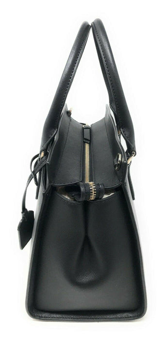 Kate Spade New Collection Cameron Medium Satchel Crossbody Bag Handbag Black - iregali