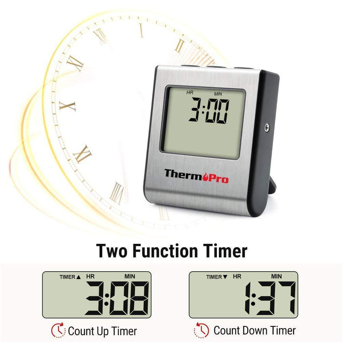 Large LCD Digital Cooking Food Meat Thermometer for Smoker Oven Kitchen - iregalijoy.com