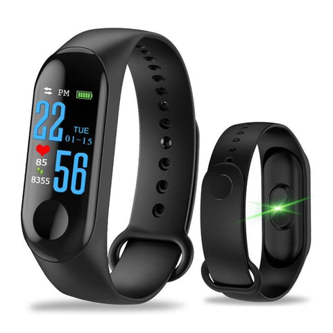 Latest M3 Smart Bracelet Color Touch Screen Fitness Tracker Blood Pressure Heart Rate Monitor Smart Band - iregali