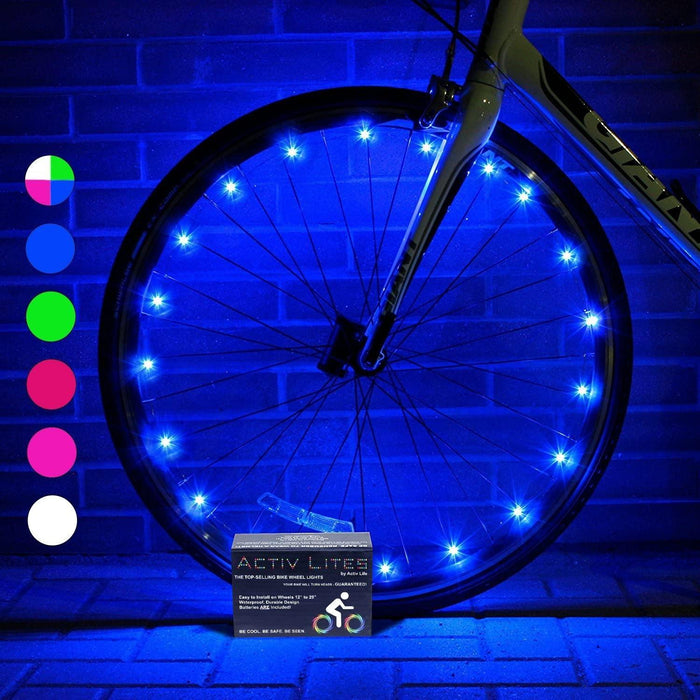 LED Bike Wheel Lights with Batteries Included! Get 100% Brighter and Visible from All Angles for Ultimate Safety & Style (2 Tire Pack) - iregali