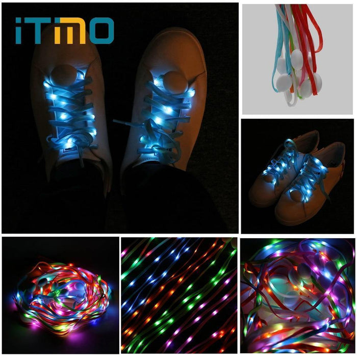 Light Shoelace LED Luminescence Shoelace Flashing Lighting Shoelace Luminous Coloured Shoelace Novelty Party Fashion Style - iregalijoy.com