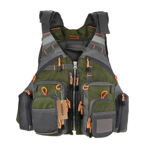 Lixada Fishing Vest Breathable Outdoor Sports Fly Swimming Life Safety Waistcoat Survival Utility Fly Vest Colete Salva-Vidas - iregalijoy.com